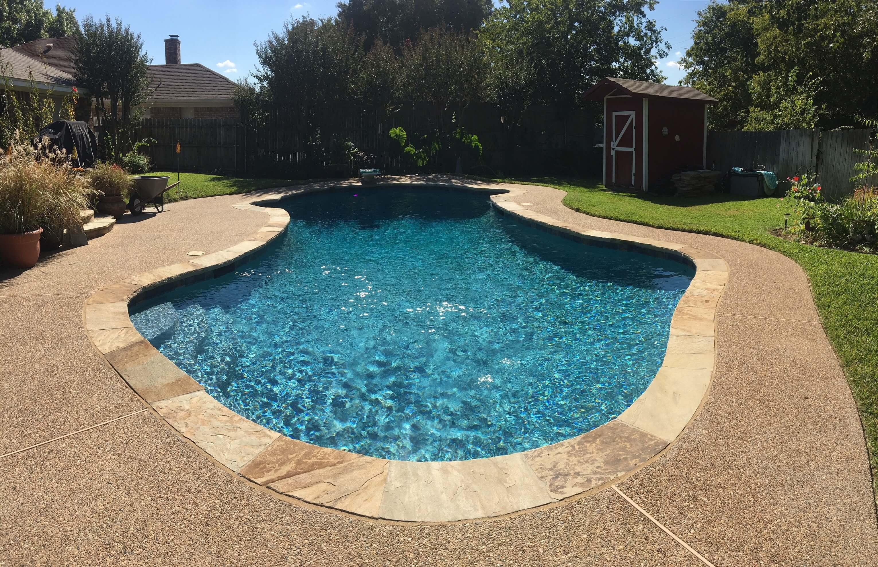 Crane after pool repair service