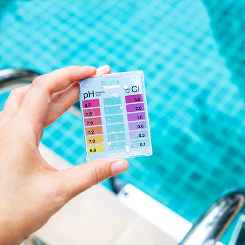 Balance acidity of pool water to keep pool water clean