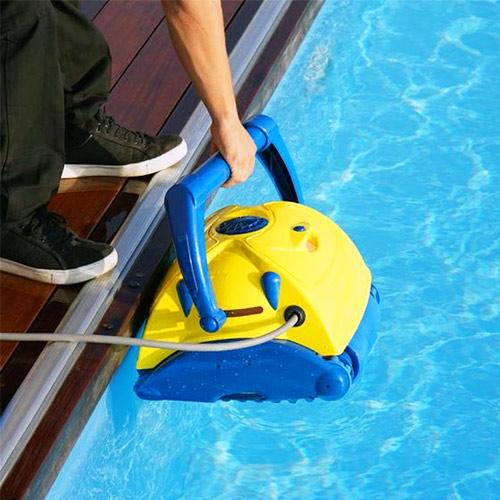 Filter pool water to keep pool water clean